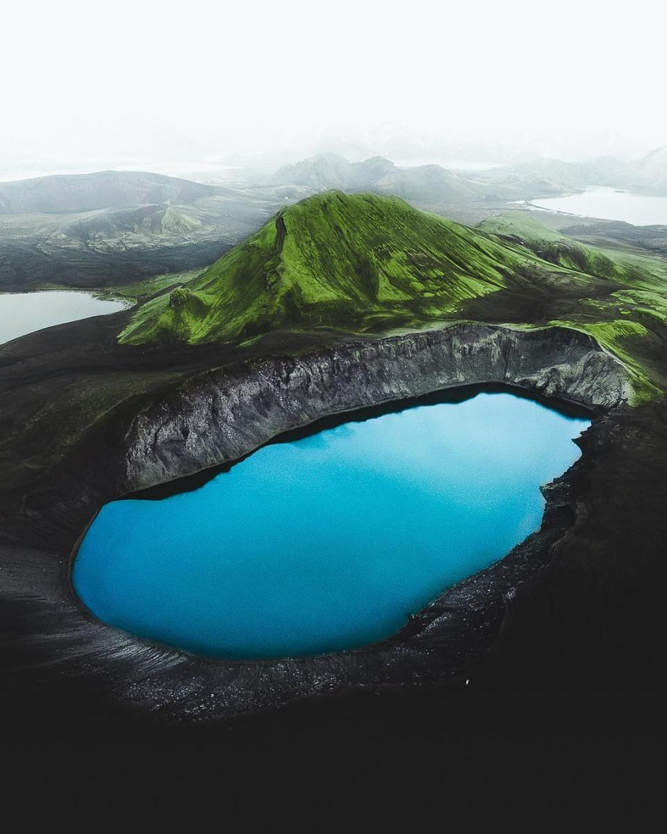 Iceland's Verdant Beauty From Above